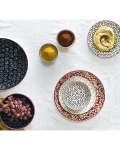 Photo of Maxwell & Williams Boho 20cm Plate Damask Red