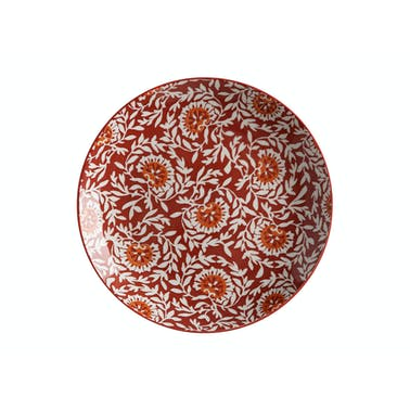 Maxwell & Williams Boho 27cm Plate Damask Red
