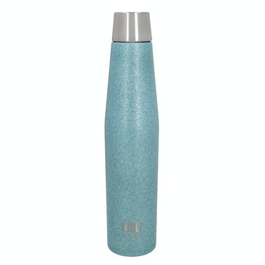 BUILT Apex 540ml Insulated Water Bottle - Aqua Glitter