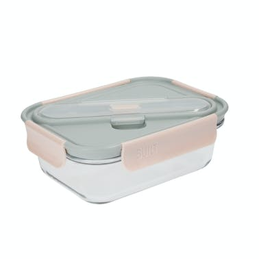Built Mindful Glass 900ml Lunch Box with Cutlery
