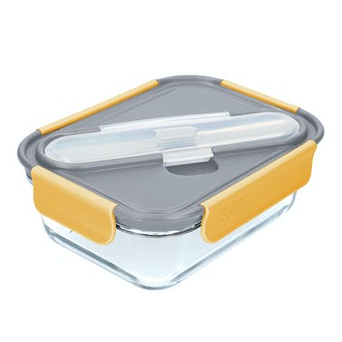 Built Stylist Glass 900ml Lunch Box with Cutlery