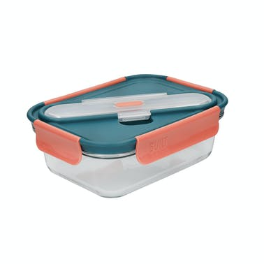Built Tropics Glass 900ml Lunch Box with Cutlery