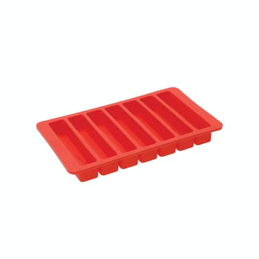 BUILT Water Bottle Ice Cube Tray, Red, 19.5 x 11.5cm
