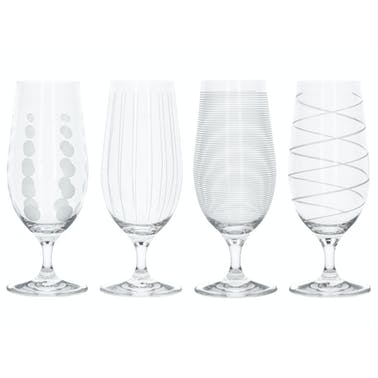 Mikasa Cheers Pack Of 4 Stemmed Pilsner Glasses