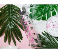 Creative Tops Ava & I Flamingo 500ml Glass Bottle