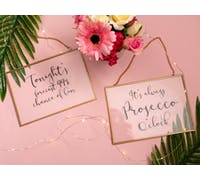 Creative Tops Ava & I Prosecco Glass Hanging Sign