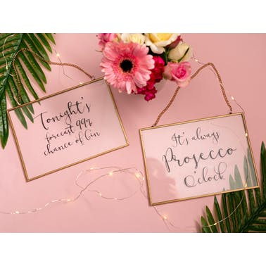 Creative Tops Ava & I Gin Glass Hanging Sign