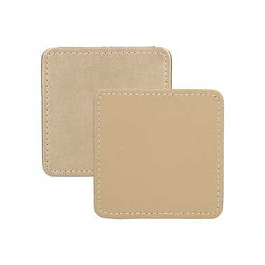 Creative Tops Naturals Premium Pack Of 4 Stitched Edge Faux Leather Coasters Metalic Gold