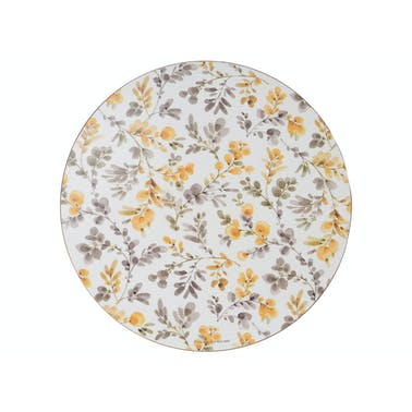 Creative Tops Fields Of Gold Pack Of 4 Premium Round Placemats