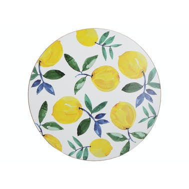Creative Tops Lemons Pack Of 4 Premium Round Placemats
