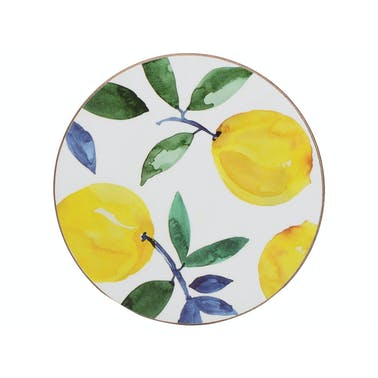 Creative Tops Lemons Pack Of 4 Premium Round Coasters
