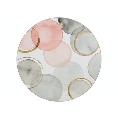 Creative Tops Gilded Spheres Pack Of 4 Premium Round Placemats