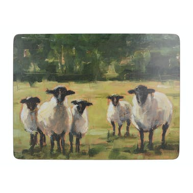 Creative Tops Sheep Family Pack Of 6 Premium Placemats