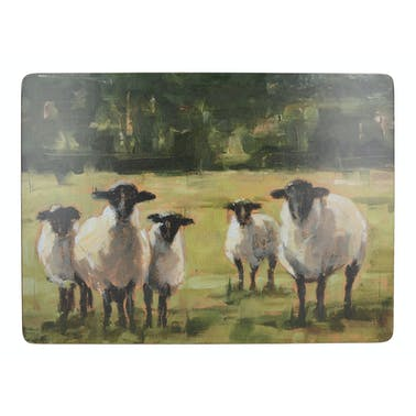 Creative Tops Sheep Family Pack Of 4 Large Premium Placemats