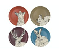 Creative Tops Into The Wild Bamboo Fibre Set Of 4 Dinner Plates