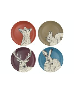 Photo of Creative Tops Into The Wild Bamboo Fibre Set Of 4 Dinner Plates