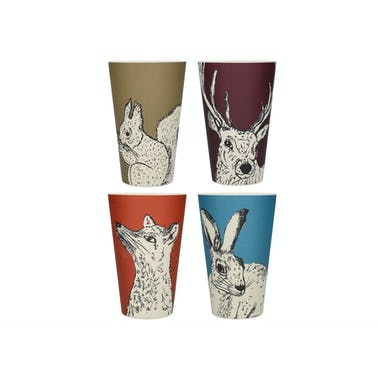 Creative Tops Into The Wild Bamboo Fibre Set Of 4 Beakers