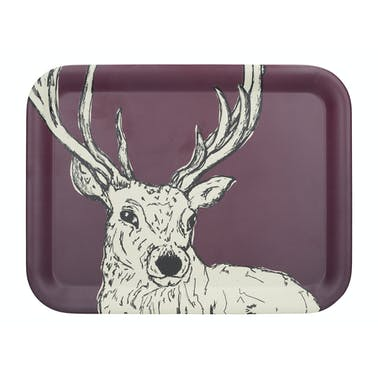 Creative Tops Into The Wild Bamboo Fibre Stag Large Tray