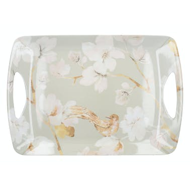 Creative Tops Duck Egg Floral Large Luxury Handled Tray