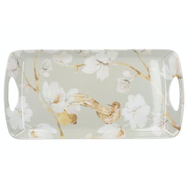 Creative Tops Duck Egg Floral Small Luxury Handled Tray