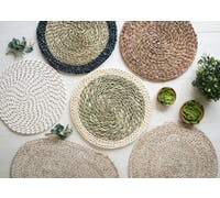 Creative Tops Naturals Wovan Grass Pack Of 2 Placemats Blue