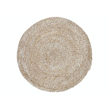 Creative Tops Naturals Round Wovan Bulrush Placemat White