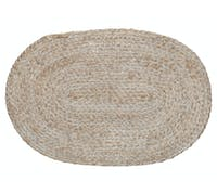 Creative Tops Naturals Oval Wovan Bulrush Placemat White
