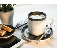 La Cafetiere Barcelona Cool Grey 300ml Coffee Cup and Saucer