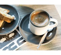 La Cafetiere Barcelona 130ml Espresso Cup And Saucer Cool Grey