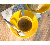 La Cafetiere Barcelona 130ml Espresso Cup And Saucer Mustard