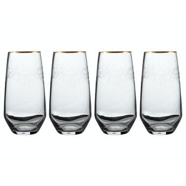 Victoria And Albert The Cole Collection Set Of 4 Highball Glasses