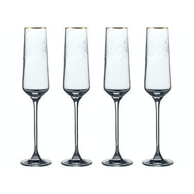 Victoria And Albert The Cole Collection Set Of 4 Flute Glasses