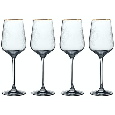 Victoria And Albert The Cole Collection Set Of 4 White Wine Glasses