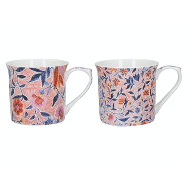 Victoria And Albert Mughal Flowers Set Of 2 Palace Mugs