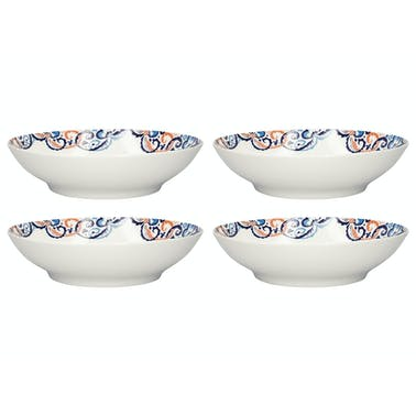Victoria And Albert Rococo Silk Set Of 4 Pasta Bowls