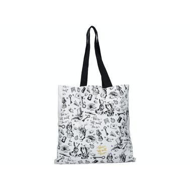 Victoria And Albert Alice In Wonderland All Over Print Shopper Bag