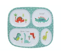Creative Tops Hungrysaurus Sectioned Kids Plate in a CDU