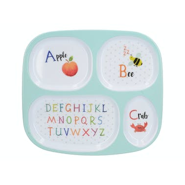 Creative Tops Alphabet Sectioned Kids Plate In A CDU