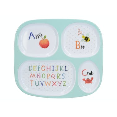 Creative Tops Alphabet Sectioned Kids Plate