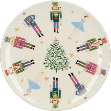 KitchenCraft The Nutcracker Collection Nutcracker Canape Plate
