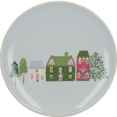 KitchenCraft The Nutcracker Collection Houses Canape Plate