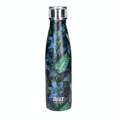 Built 500ml Double Walled Stainless Steel Water Bottle Dark Tropics