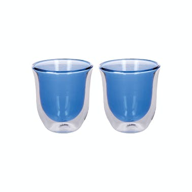 La Cafetière Colour Blue Double Walled Glasses