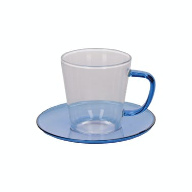 La Cafetière Colour Blue Tea Cup and Saucer