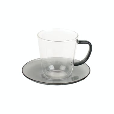 La Cafetière Colour Smoke Grey Tea Cup and Saucer