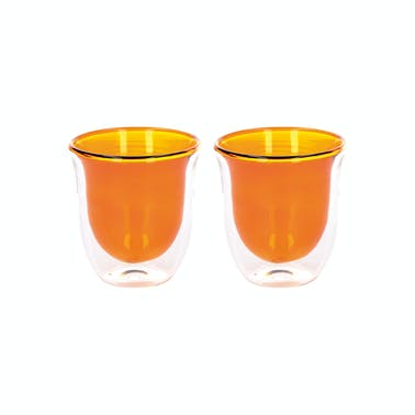 La Cafetière Colour Amber Double Walled Glasses