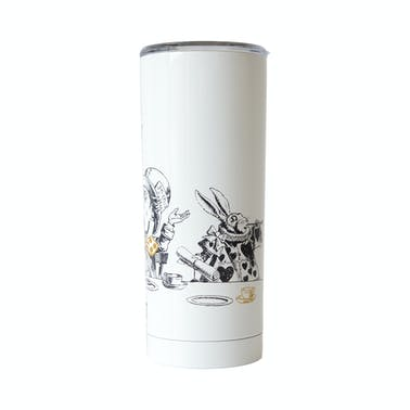 Built V&A 590ml Double Walled Stainless Steel Water Travel Mug Alice in Wonderland