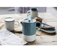 La Cafetière Barcelona Retro Blue 6 Cup Ceramic Cafetiere
