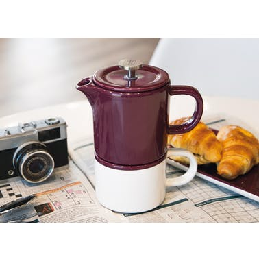 La Cafetière Barcelona 400ml Ceramic Coffee for One Plum