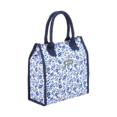 KitchenCraft 4 Litre Blue Flower Dot  Lunch / Snack Cool Bag